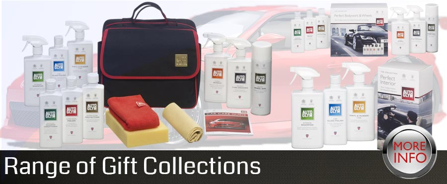 car polish and car care products gift collection range