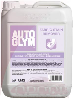 AutoGlym Fabric Stain Remover 5 Litre
