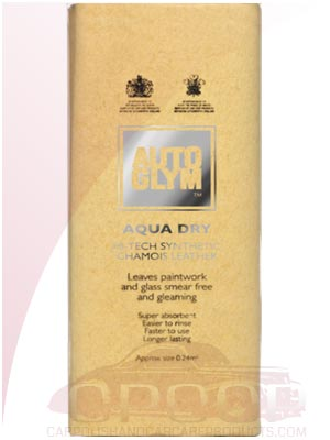 AutoGlym Hi-Tech Aqua Dry Chamois Leather / Car Care Products